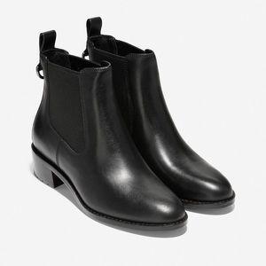 Black leather Cole Haan Newburg Boots BNIB